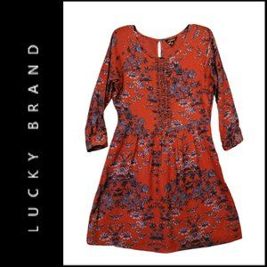 Lucky Brand Women Boho Floral Fit & Flare Dress